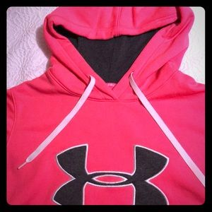 Women's Pink UnderArmour Hoodie Small